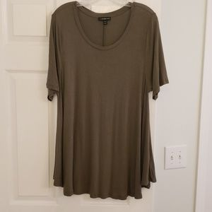 Lane Bryant Olive Green Swing Top